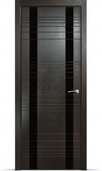 Дверь Мильяна серия ID D цвет Неро Черное стекло