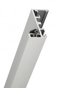 Коробка Z образная алюминиевая для стеклянной двери