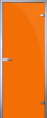 Стеклянная дверь Orange (оранжевая)