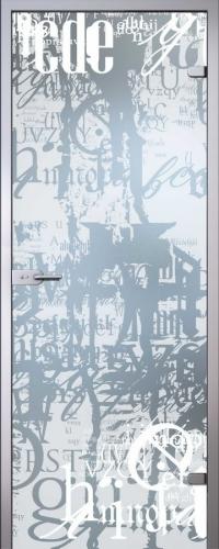 Стеклянная дверь Граффити