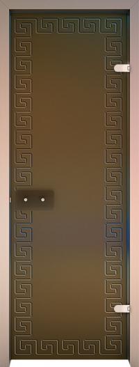 Двери для сауны Хамам Бронза матовая ID-134 алюминий