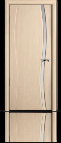 Дверь Мильяна Омега 1 Беленый дуб Белое узкое стекло