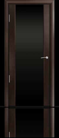Дверь Мильяна Омега 2 Венге Черное стекло