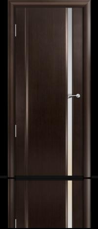 Дверь Мильяна Омега 2 Венге Белое узкое стекло