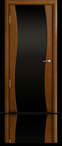 Дверь Мильяна Омега  Анегри Черное стекло