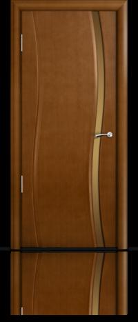 Дверь Мильяна Омега Анегри Бронзовое узкое стекло