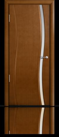 Дверь Мильяна Омега  Анегри  Белое узкое стекло