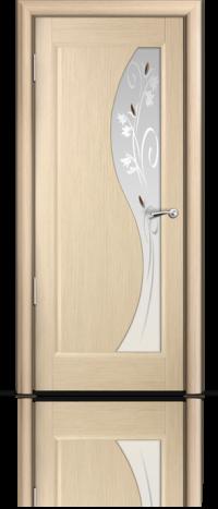 Дверь Мильяна серия Стелла модель Элиза Беленый дуб модельное стекло