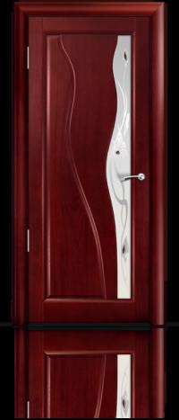 Дверь Мильяна серия Стелла модель Ирэн Красное дерево модельное стекло