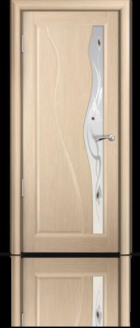 Дверь Мильяна серия Стелла модель Ирэн Беленый дуб модельное стекло