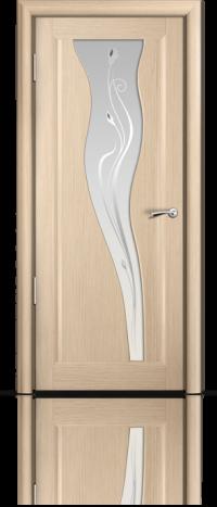 Дверь Мильяна серия Стелла модель Лантана Беленый дуб модельное стекло