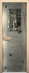 Двери для сауны Арт серия с фьюзингом оконце