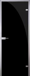 Стеклянная дверь Black (черная)