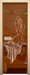 Двери для сауны Арт с рисунком ГлассДжет Девушка