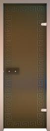 Двери для сауны Хамам Бронза матовая ID-134 алюминий меандр