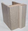 Коробка МДФ беленый дуб для стеклянной двери