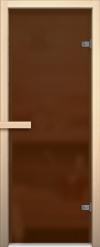 Стеклянная дверь для сауны АКМА light бронза матовое Магнитная ручка