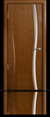 Дверь Мильяна Омега 1 Анегри Белое узкое стекло