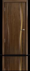 Дверь Мильяна Омега 1 Американский орех Бронзовое узкое стекло