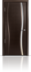 Дверь Мильяна Омега 1  Венге Белое узкое стекло