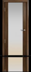 Дверь Мильяна Омега 2 Американский орех Белое стекло