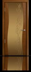 Дверь Мильяна Омега Анегри Бронзовое стекло  рисунок Фантазия