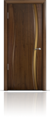 Дверь Мильяна Омега  Американский орех Бронзовое стекло