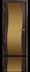 Дверь Мильяна Омега  Венге Бронзовое стекло