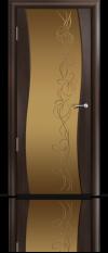 Дверь Мильяна Омега  Венге Бронзовое стекло рисунок Фантазия