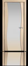 Дверь Мильяна Омега  Беленый дуб  Белое стекло
