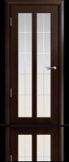 Дверь Дана Темный орех с модельным стеклом