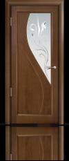 Дверь Мильяна серия Стелла модель Яна Палисандр модельное стекло