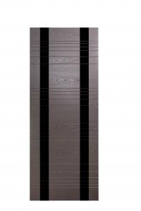 Дверь Мильяна серия ID D цвет Гриджио Черное стекло