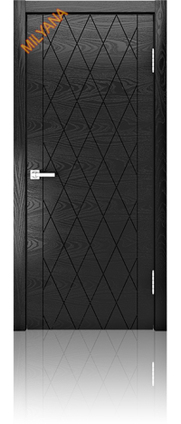 Дверь Мильяна глухая ID W неро