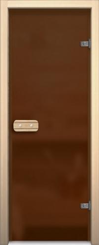 Двери для сауны Аспен и Линден Бронза матовая