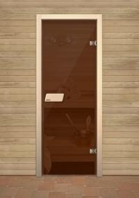 Бронзовая финская дверь для сауны Narvia