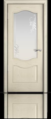 Дверь Марсель Ясень жемчуг стекло Гранд