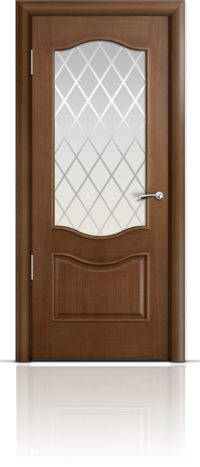 Дверь Марсель Палисандр стекло Готика