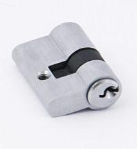 Цилиндр под замок GlassTur ключ-ключ Алюминий. Есть также: нержавейка, золото, хром, черный никель, античная бронза