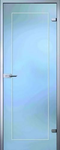Стеклянная дверь Клара