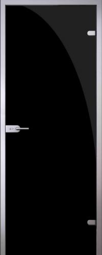 Стеклянная дверь Black (черная) АКМА