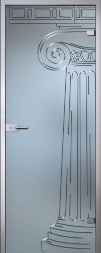 Стеклянная дверь Капитель