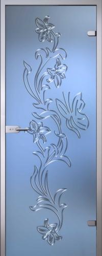 Стеклянная дверь Орхидея АКМА