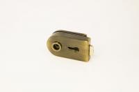 Комплект фурнитуры B-R (GT) для стеклянной двери Бронза