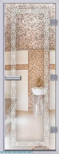 Дверь для сауны Хамам 60G бесцветная Акжол
