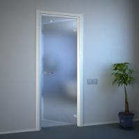 Матовая бесцветная дверь