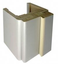 Коробка МДФ серебро для стеклянной двери АКМА