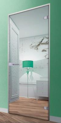Зеркальная стеклянная дверь АКМА