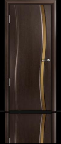 Дверь Мильяна Омега Венге Бронзовое узкое стекло