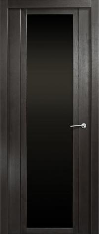 Дверь Мильяна Qdo X Ясень винтаж Черное стекло